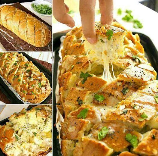 Cheese, onion & garlic bread