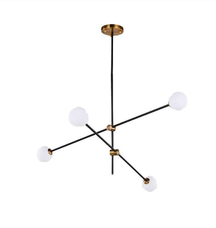 Darin 4-Light Sputnik Chandelier