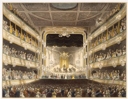 1808 Covent Garden Theatre: Thomas Rowlandson museumoflondonprints.com