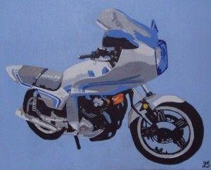 Motorbike painting on canvas