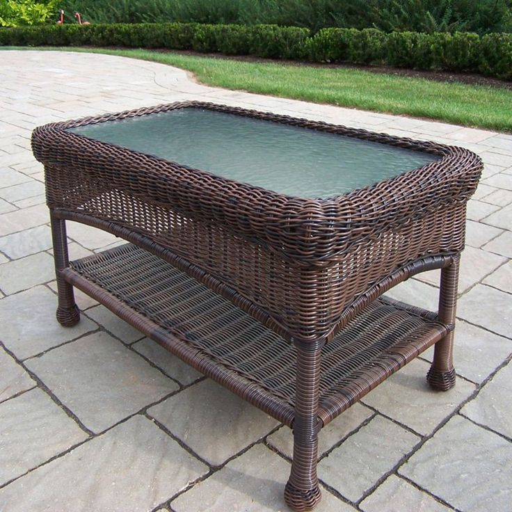 Outdoor Oakland Living All-Weather Wicker Coffee Table - 25+ Best Ideas About Wicker Coffee Table On Pinterest Grey