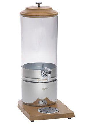 Tablecraft 7.5 Qt Beech Wood & Polycarbonate Beverage Dispenser (40187)