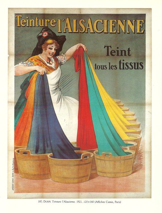 WASHING POWDER  Vintage French color advertisement by FolieduJour