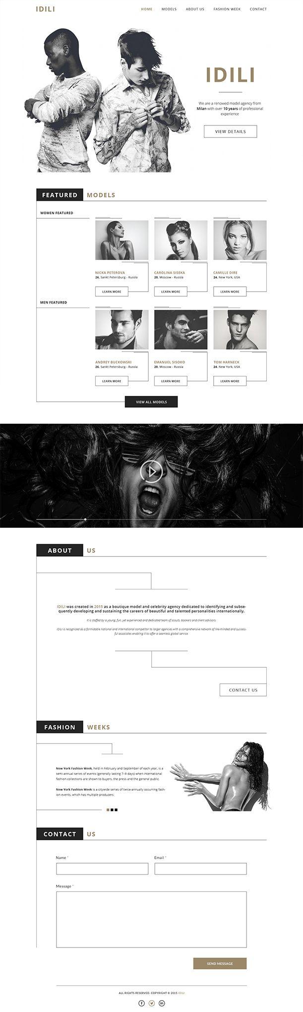 IDILI Fashion Agency Website