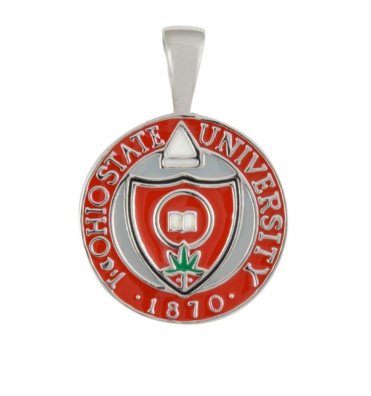 28 best ohio state pendants images on pinterest ohio state our hand polished ohio state pendant is made of sterling silver enamel aloadofball Gallery