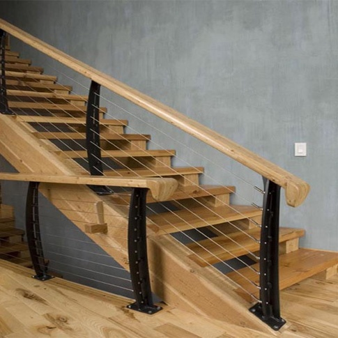 Cable stair rail for the home pinterest stair for Galandage 3 vantaux 3 rails