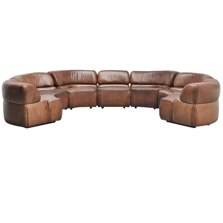 De Sede Cosmos Modular Sofa, Buffalo Leather, 1970
