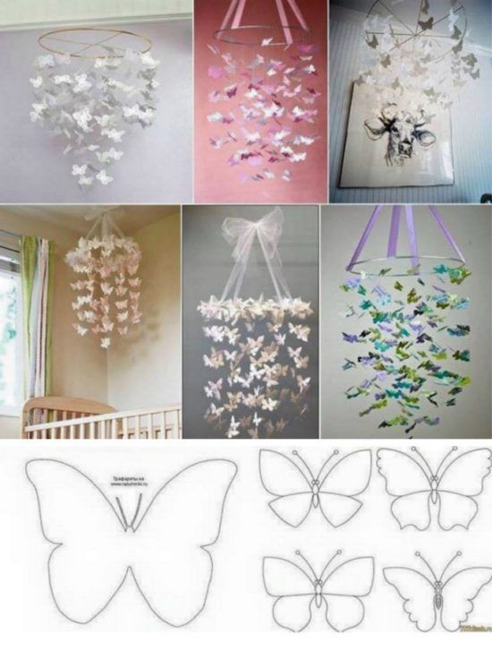 Paper Butterfly Chandelier Tutorial