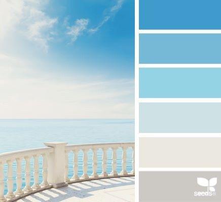 Harmonie ciel bleu I Design I Couleur I Inspiration I Camaïeu I Peinture I
