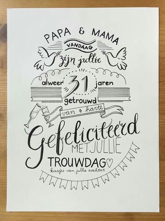 31 jaar getrouwd