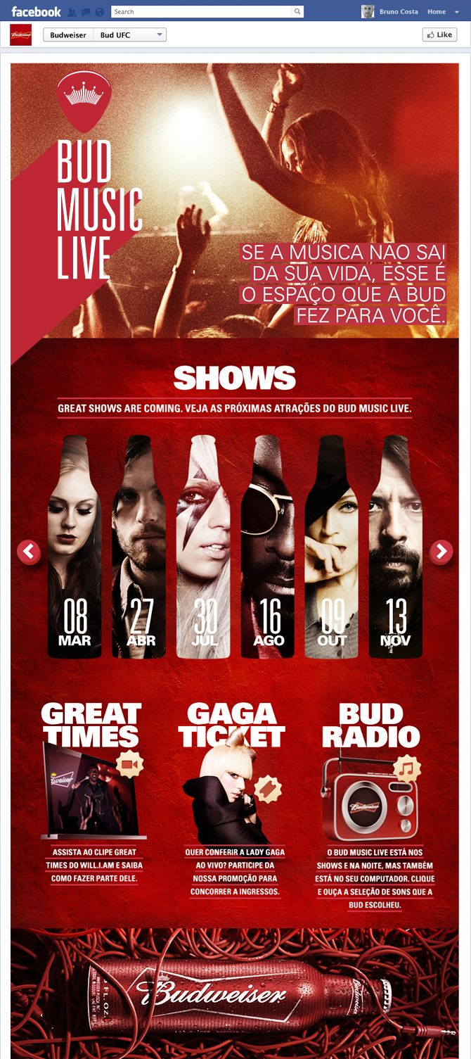 Bud Brazil #SocialMedia #Facebook #Web #Promotion