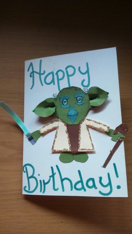 Yoda Happy Birthday Card