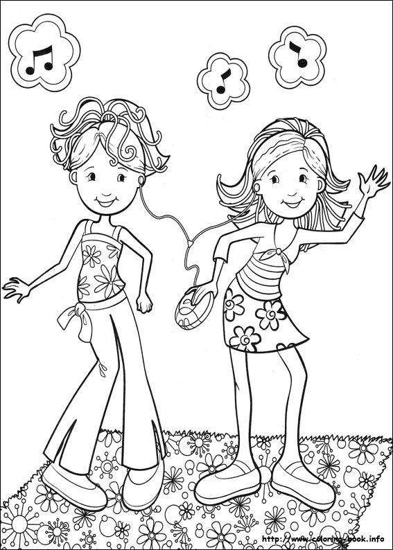 dancing girls coloring pages - photo#11