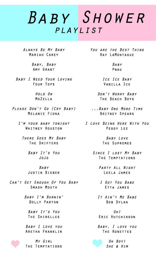 Baby Shower Playlist