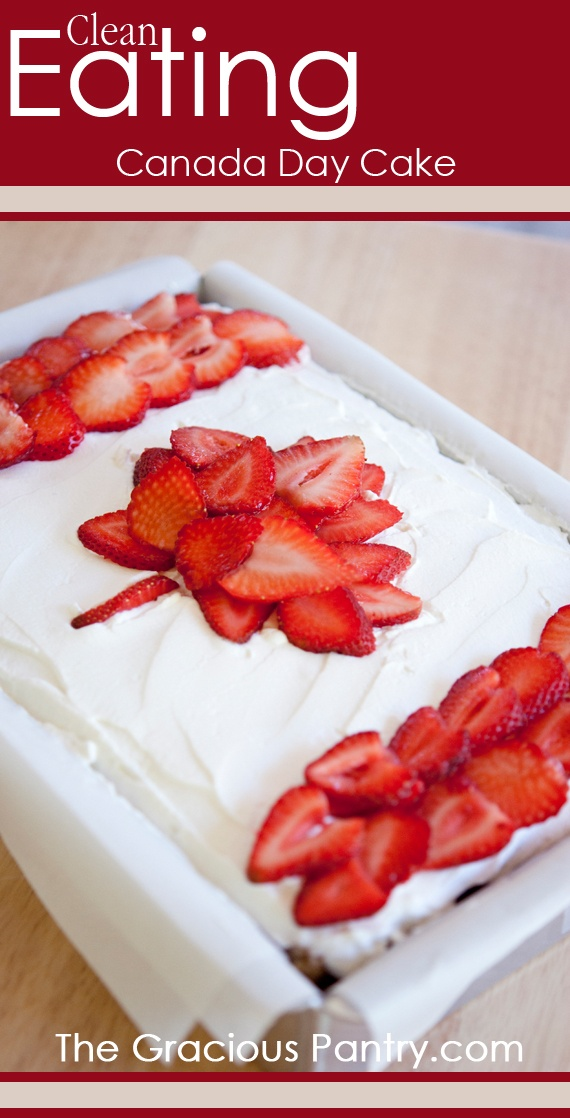 Clean Eating Canada Day Cake (Could likely sub the honey for an alternative such as ....brown rice syrup, agave syrup, etc...)