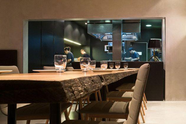 Amo las mesas del restaurante de Ricard Camarena. Según @Nada Alic Importa, la mejor mesa de Valencia. Foto de Fernando Alda.
