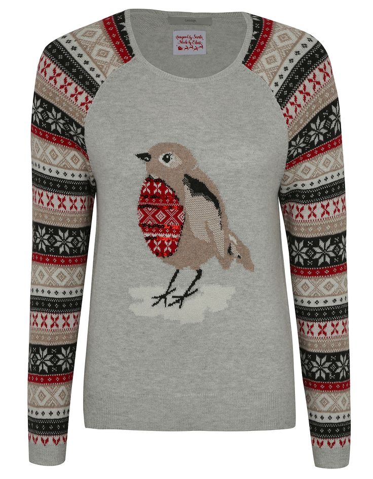Sequined Robin Christmas Jumper   Women   George at ASDA