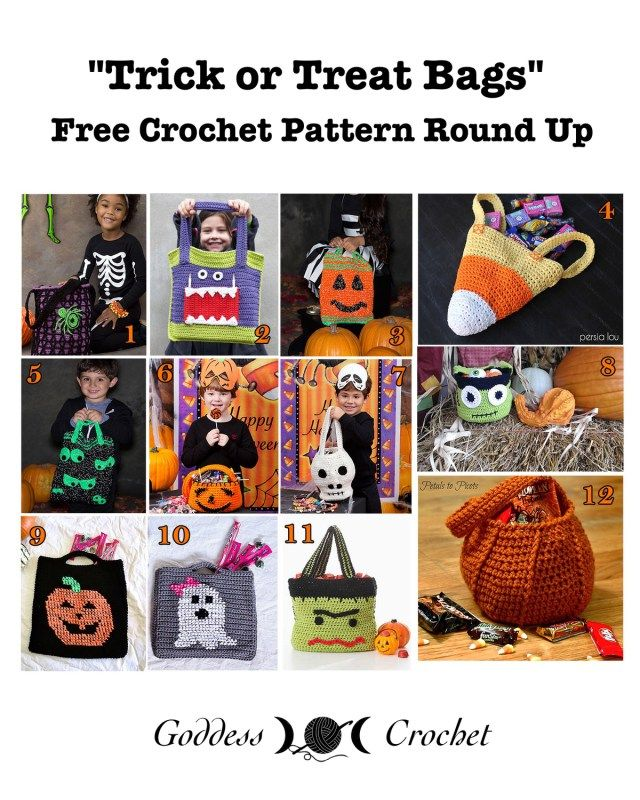 Free Crochet Patterns For Trick Or Treat Bags : 17 Best images about HALLOWEEN on Pinterest Halloween ...