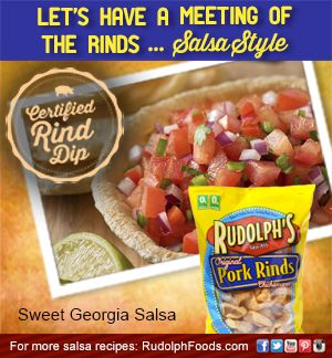 We've got Georgia on our minds and Georgia in our hearts, but this Sweet Georgia Salsa is the ultimate taste of the South! #NationalSalsaMonth
