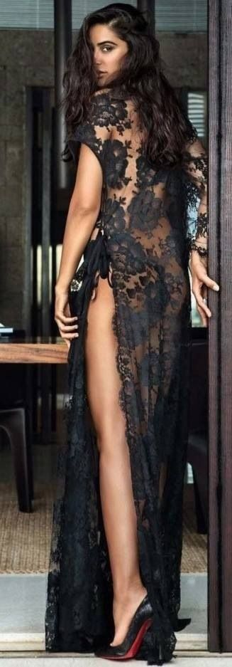 Oh, the Lady in Black Sheer Lace, the Lady in Black Sheer Lace! Isn't that a song?? Lovelier than lovely!