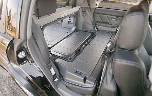 2006 Subaru Baja Turbo - Rear Seating / Cargo Area - The Subaru Baja combines the handling and passenger carrying characteristics of a traditional passenger car with the open-bed versatility, and to a lesser degree, the load capacity of a small pickup truck.