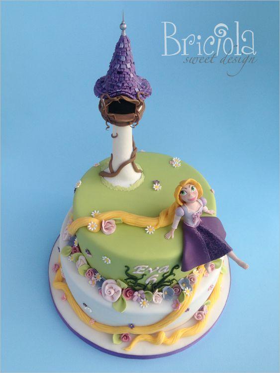 Torta Rapunzel - Rapunzel cake - Briciola torte decorate ...