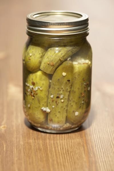 Why soak cucumbers in water before pickling?