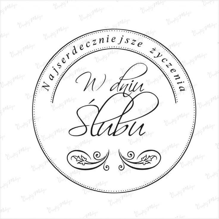 Stempel - W dniu Ślubu najserdeczniejsze - okrągły CraftyMoly