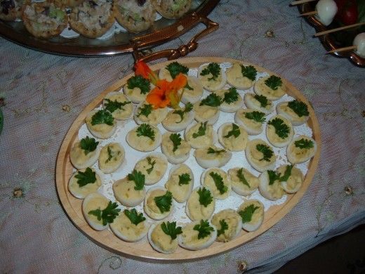 Mixing goat cheese brie with egg yokes creates a smoother and lactose free deviled egg. garnish with parsley or chives. Or mix the egg yoke with hummus or avocado to make a different deviled egg.