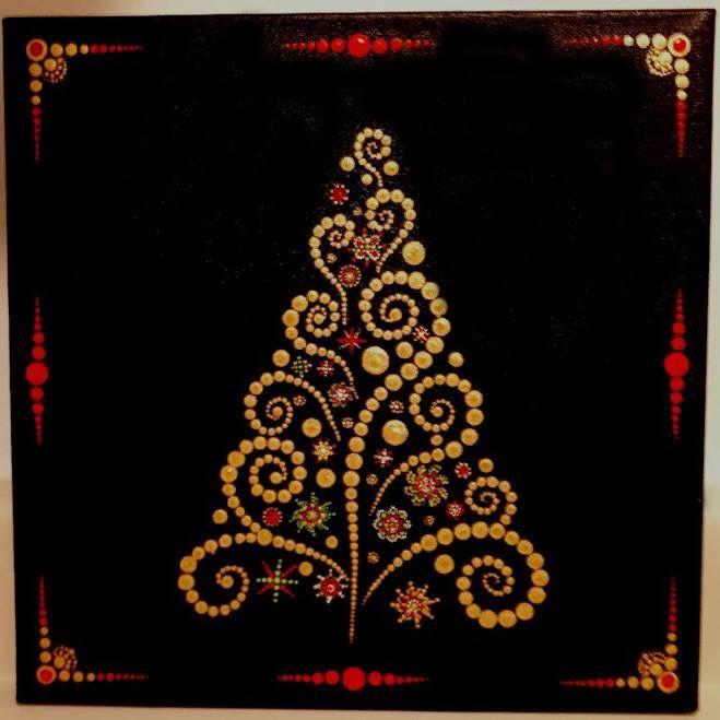 Pin By Karen Lower On Christmas Dot Art Painting Mandala Art Lesson Dot Painting