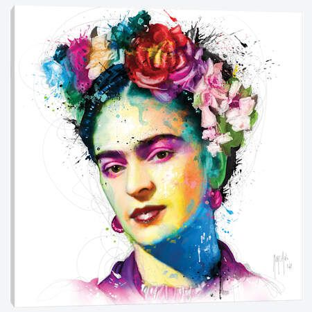 Frida Kahlo Canvas Artwork by Patrice Murciano Frida Kahlo Artwork, Frida Kahlo Exhibit, Frida Kahlo Portraits, Frida Art, Canvas Artwork, Canvas Art Prints, Lino Prints, Block Prints, Murciano Art