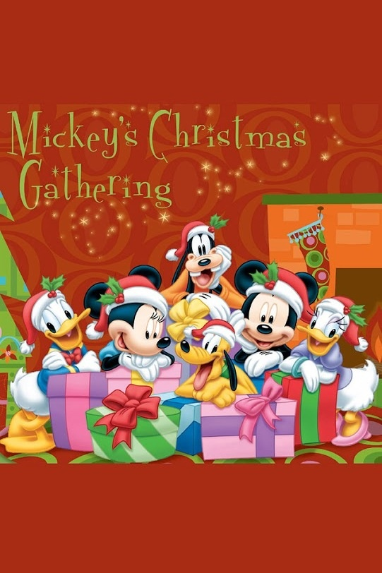 Christmas gathering of Mickey and friends