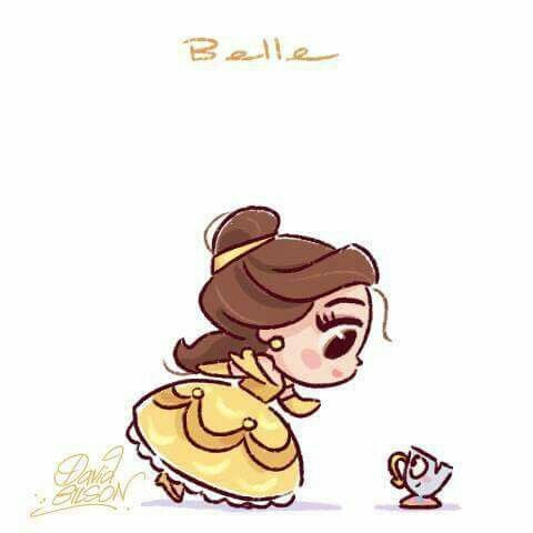 The Art of David Gilson | Belle & Chip | Beauty & the Beast | Bella | La Bella y La Bestia | @Dgiiirls