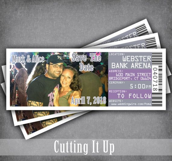 Concert Save The Date Ticket Magnets, Magnet Tickets, Movie, Music Theme, DIY Template, Wedding, Birthday Party, Bar Mitzvah, Bat Mitzvah