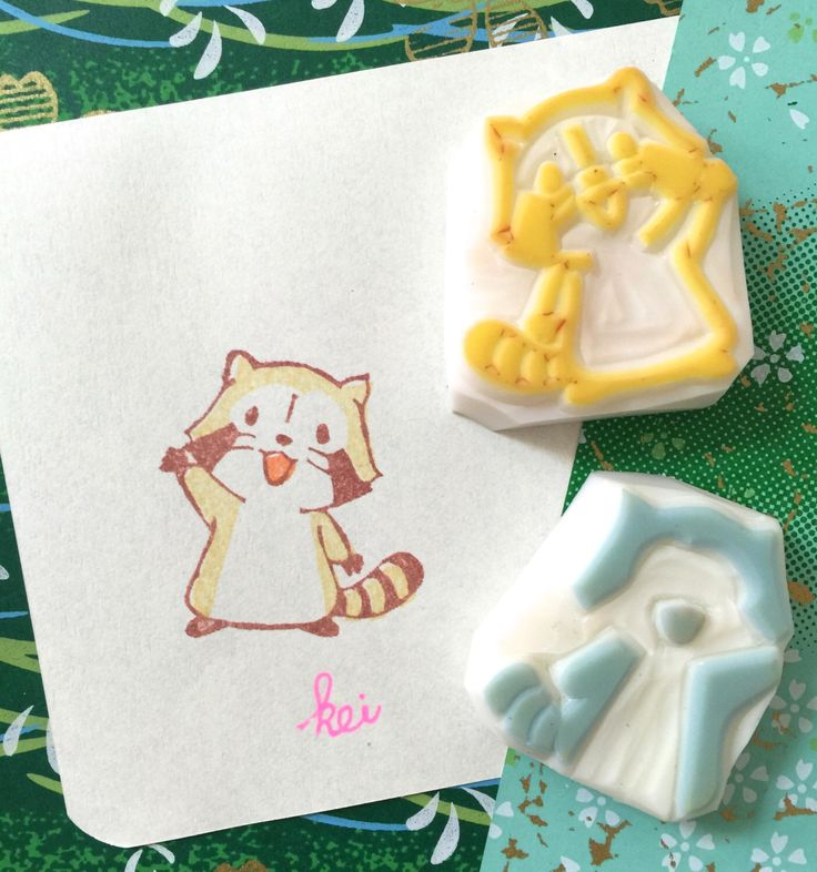 RASCAL RACCOON - Hand Carved Rubber Stamp/Carving Handmade Stamps/Anime by KeiWorkshop on Etsy https://www.etsy.com/listing/253948302/rascal-raccoon-hand-carved-rubber