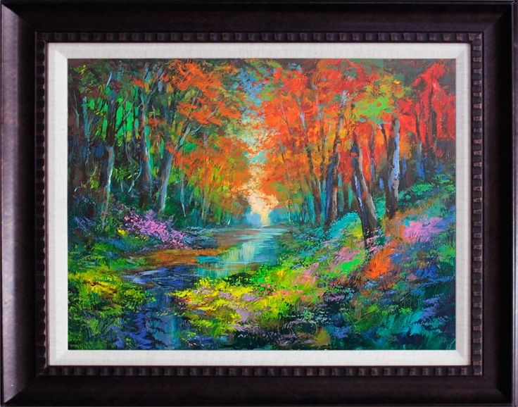 Lovely vivid colours. Artist: Michael Schofield; Title: untitled; Medium: Original Oil on canvas