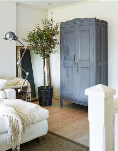 scandinavian style furniture, something other than black or white... // Love the armoire