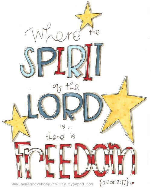 Our country's freedom came with a price, so did the freedom in our Lord Jesus Christ. Independence Day! Happy 4th of July.
