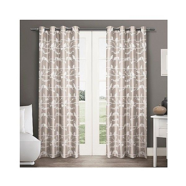 Exclusive Home Lovebirds Curtain Panels ($42) ❤ liked on Polyvore featuring home, home decor, window treatments, curtains, natural, target curtains, textured curtains, target curtain panels, texture panels and jacquard curtains