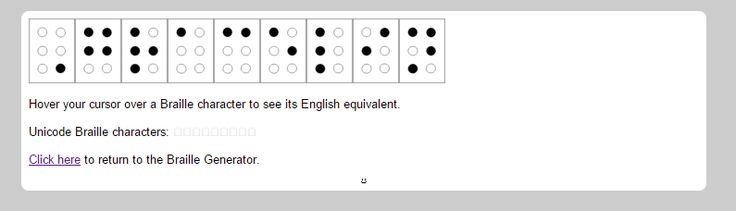 Gracelin's name in Braille