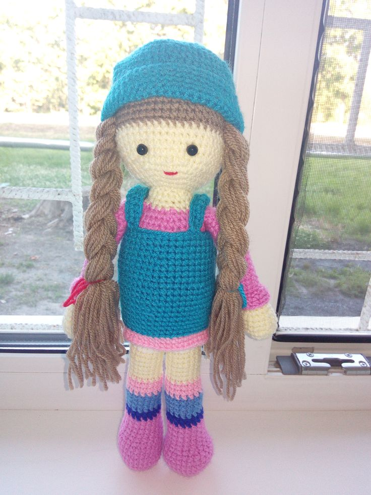 кукла с косами