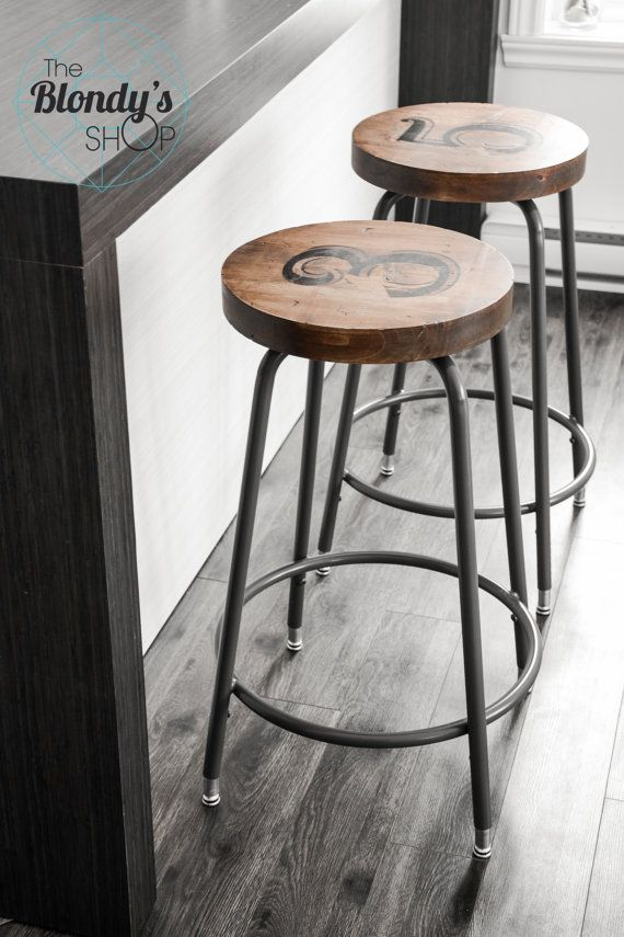 SOLD _______Set of two industrial stools by TheBlondysShop on Etsy