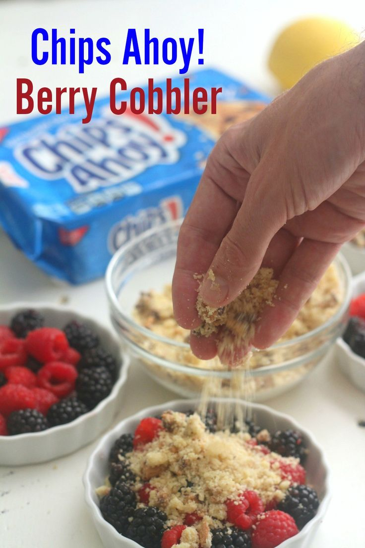 I like my CHIPS AHOY! Berry Cobbler with lots of topping! Your kids will love this as a back-to-school treat! [Sp]