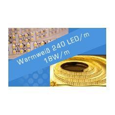 LED Streifen Warmweiß 240 LED/m