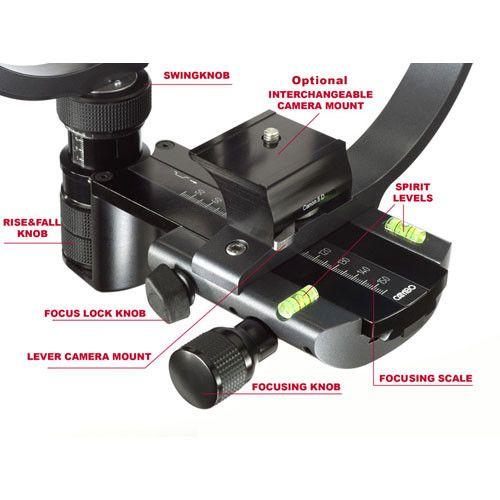 カンボのX2-Proの35ミリメートルカメラサポートシステム