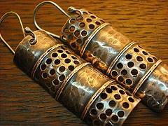 Copper Earrings by LjBjewelry