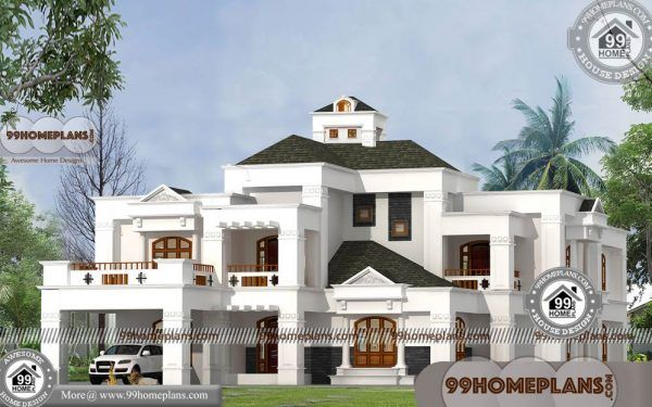 Bungalow Home Style With 3d Elevations Two Story Above 5000 Sq Ft House Styles Bungalow Homes House Architecture Styles