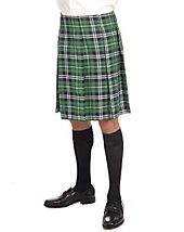 St. Patrick's Days Costumes - Adult Green Plaid Kilt