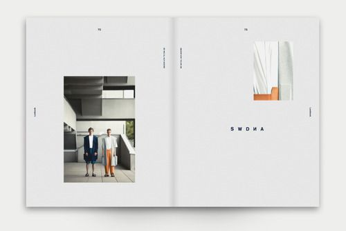 """nothingtochance: """" LOOKBOOK for Kathrin Balk / Dominik Bubel The lookbook was part of a corporate design for the fashion designer Kathrin Balk. The layout and the design is an interpretation of the the very graphic fashion. """""""