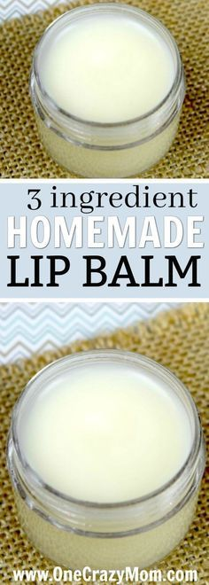 Homemade Lip Balm Recipe – Easy DIY Lip Balm with only 3 Ingredients!
